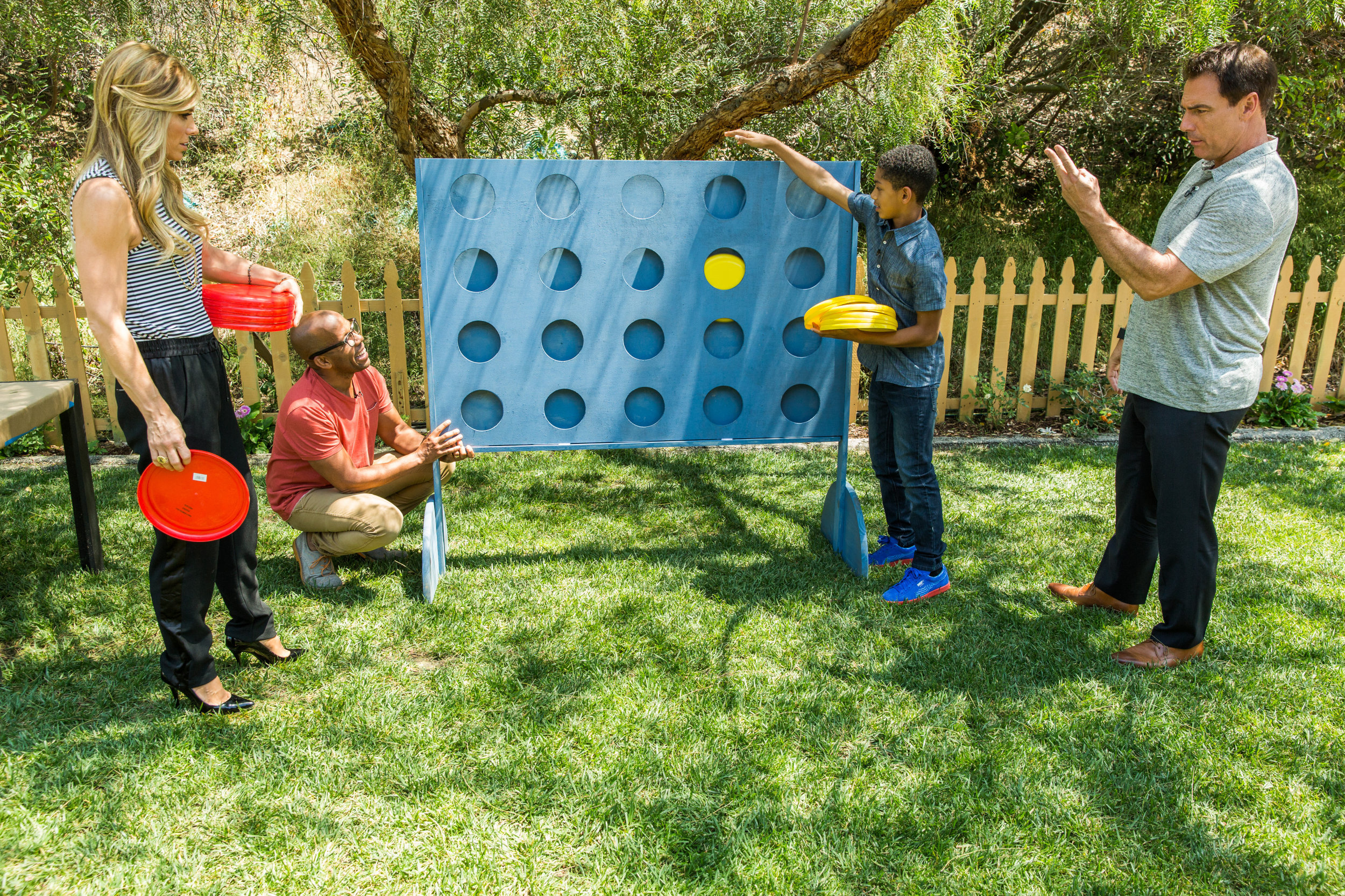 Diy Giant Backyard Connect Four Home Amp Family Video