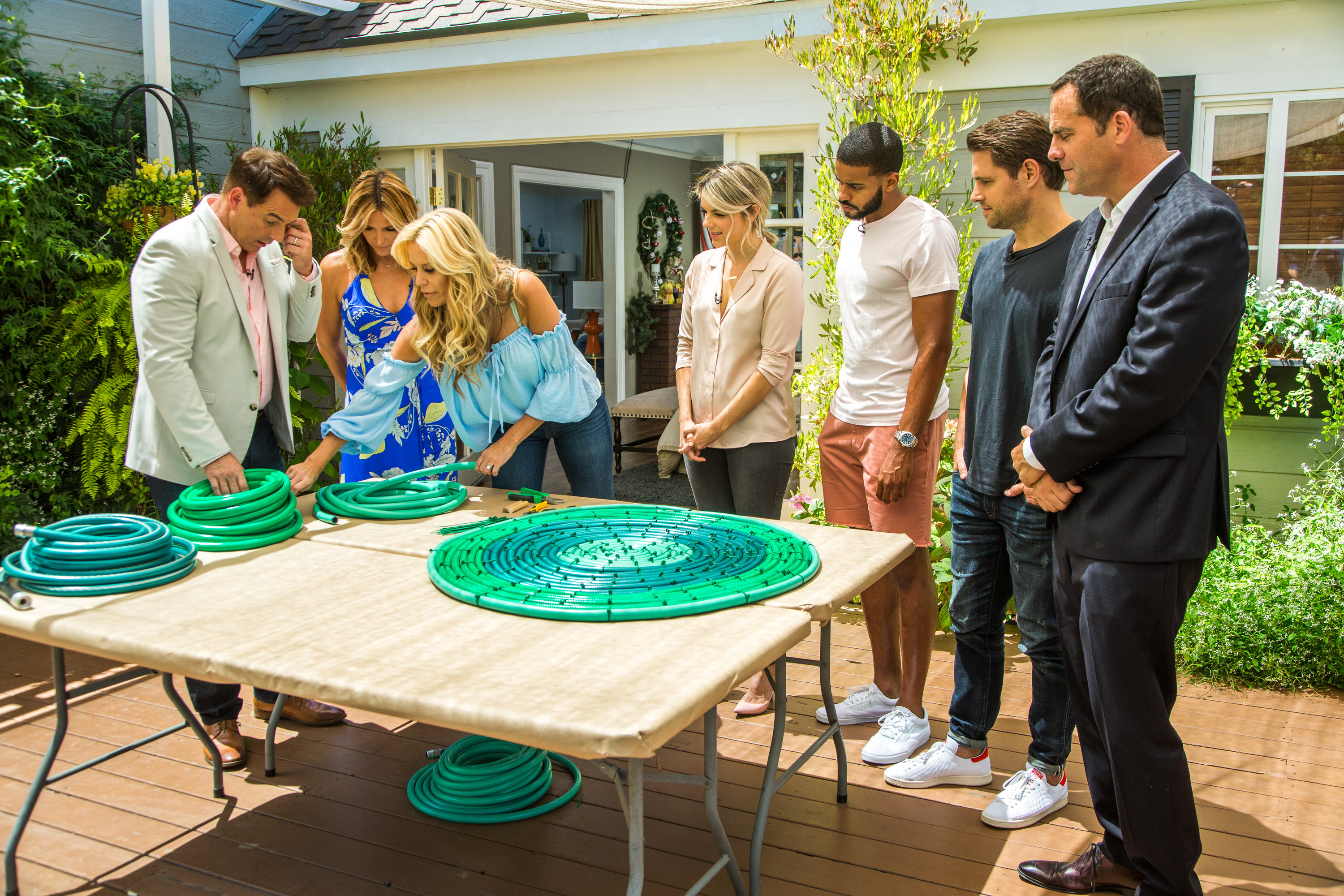 DIY Recycled Hose Outdoor Rug Home & Family Video