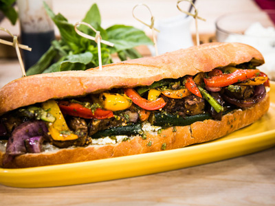 ... recipe for her Grilled Vegetable Sandwich | Hallmark Channel