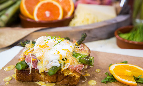 Brioche French Toast With Asparagus And Orange Beurre ...