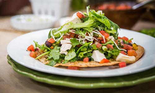 Chicken Salad Tostadas Chicken tostada salad
