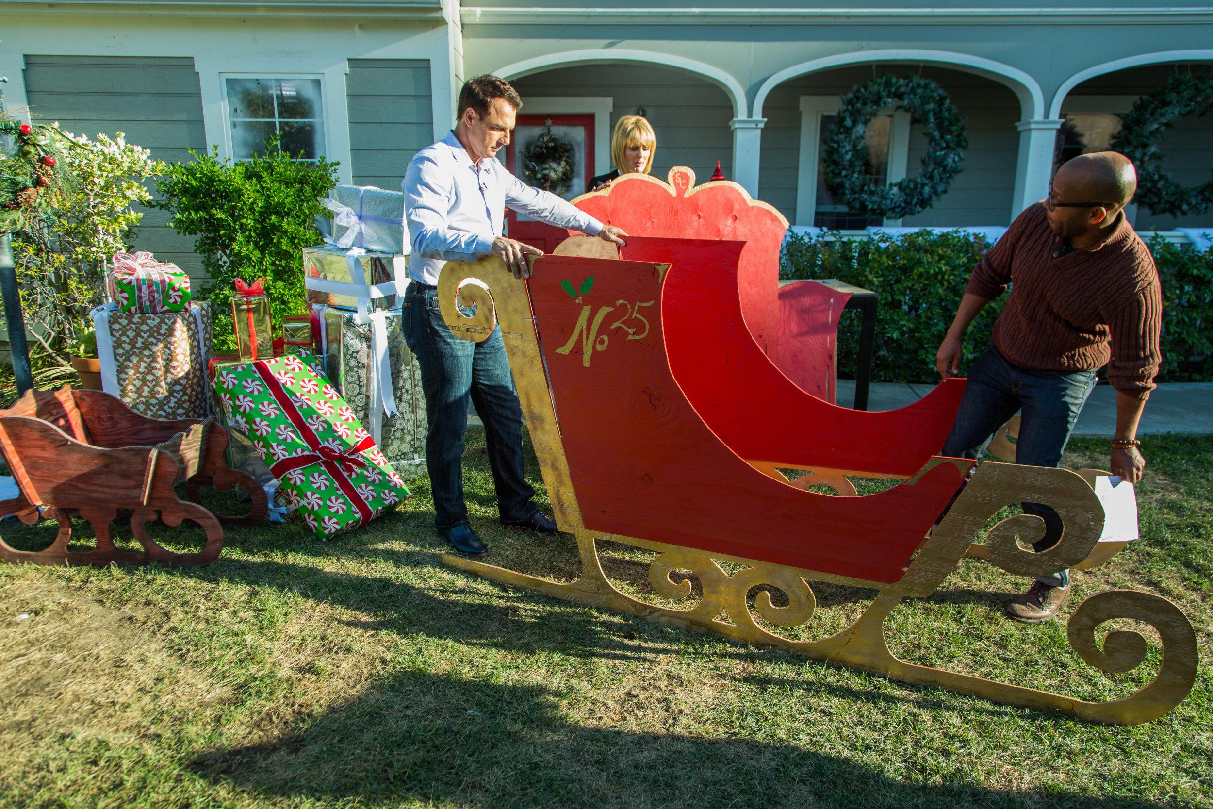 How To Diy Santa Sleigh Home Family Hallmark Channel