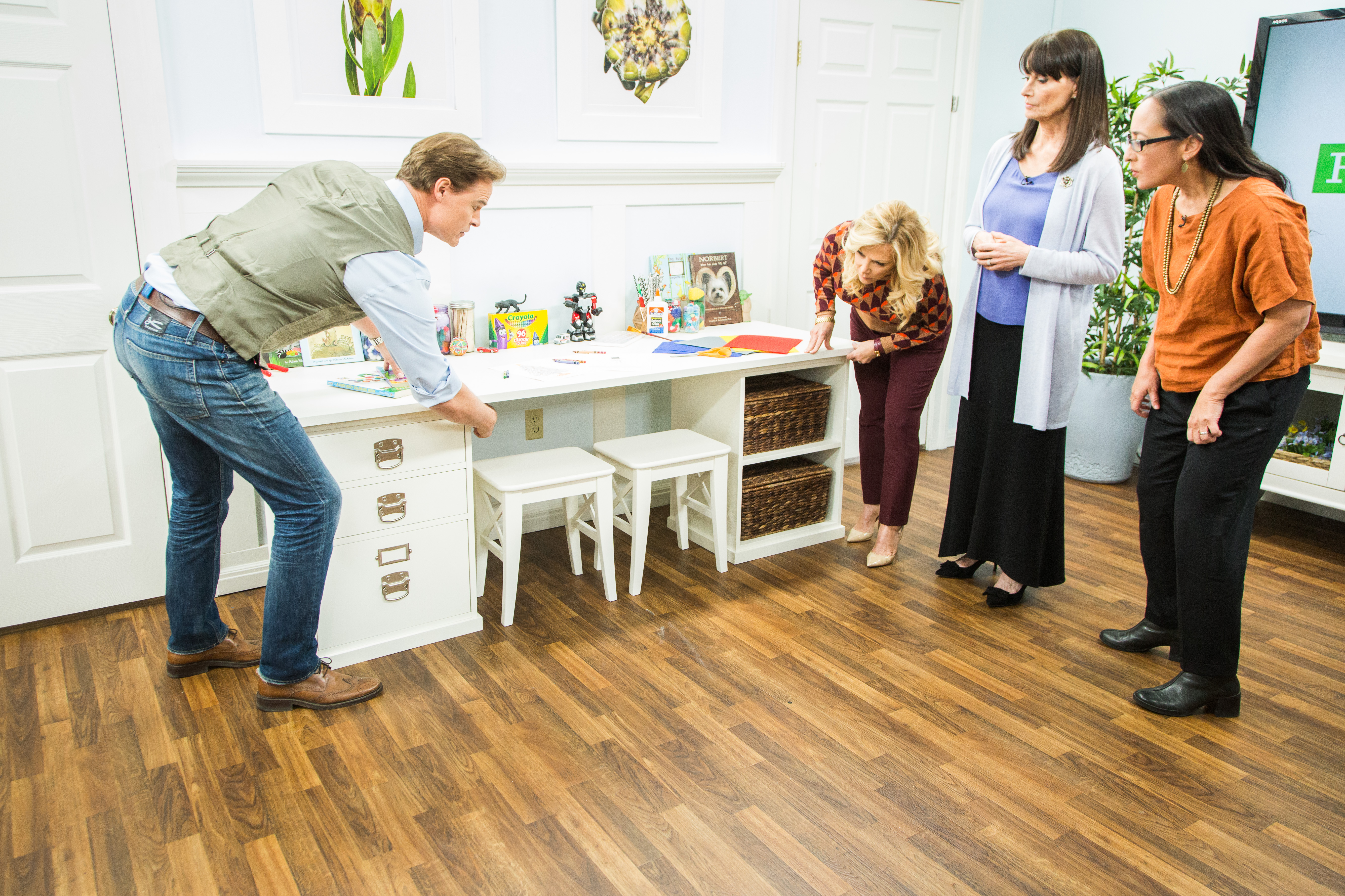 Diy Kids Desk For Two Home Family Video Hallmark Channel