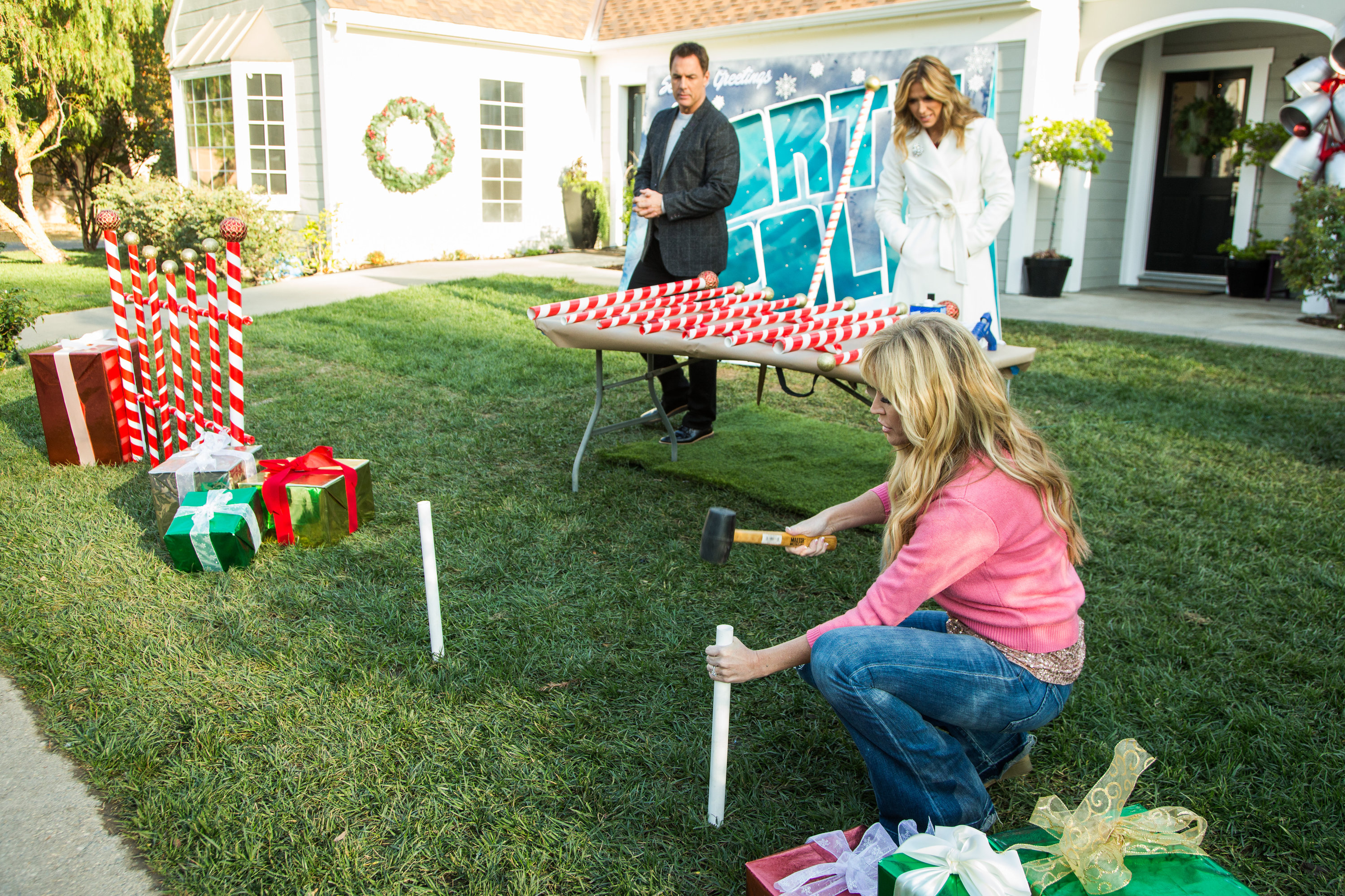 Diy Giant Candy Cane Picket Fence Home Amp Family Video