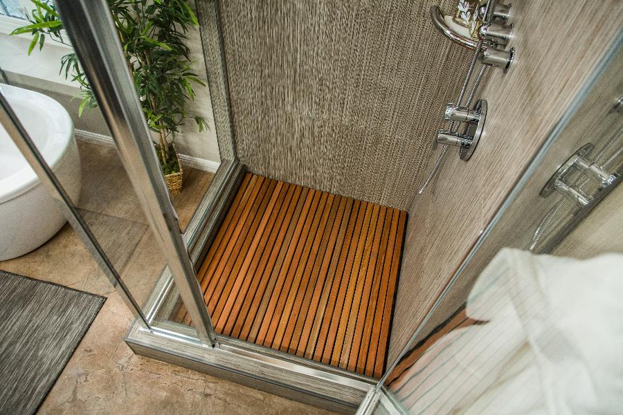 Diy Wooden Slat Shower Floor Home Amp Family Video