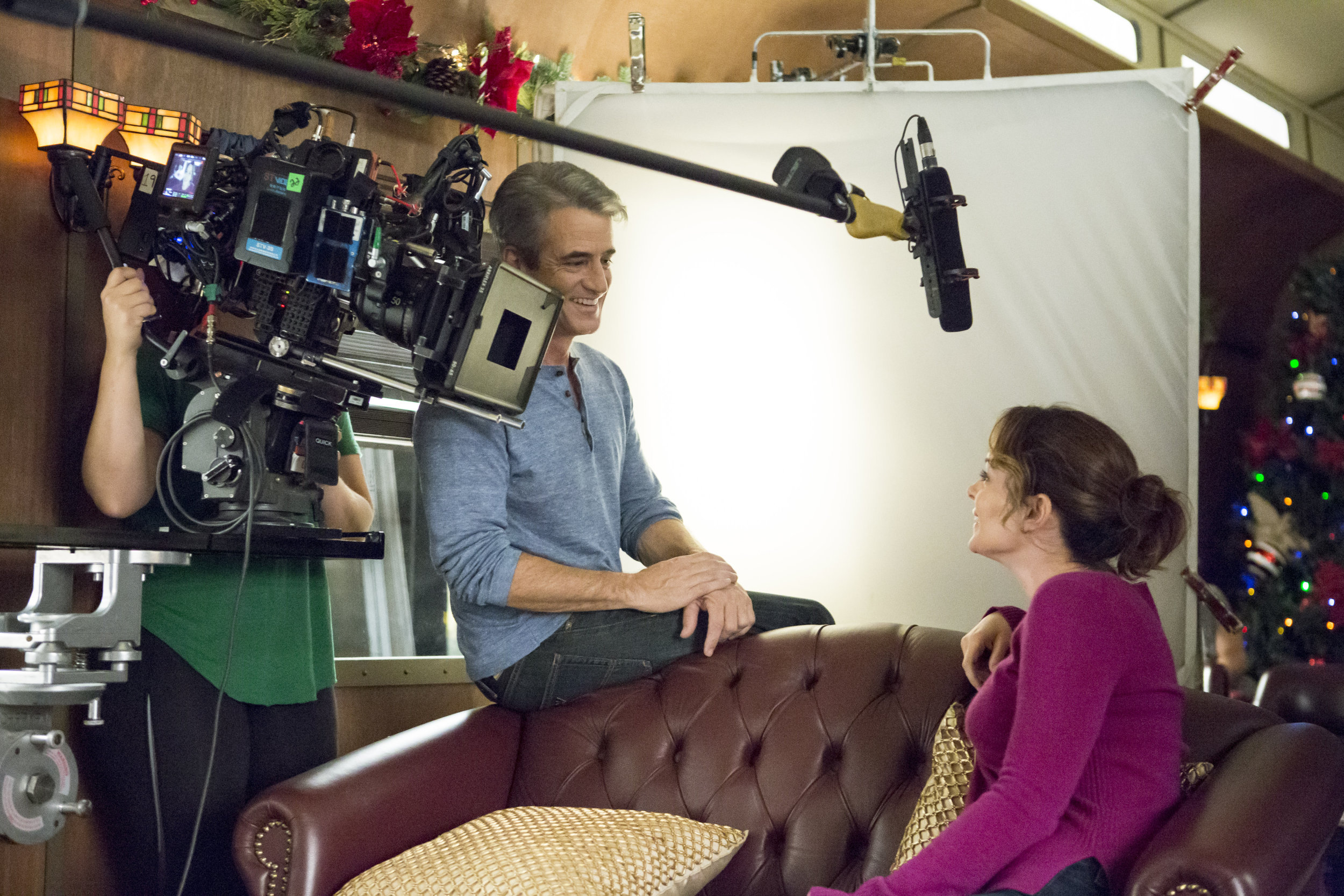 Hallmark The Christmas Train.Cast Interviews The Journey Of Riding A Train The