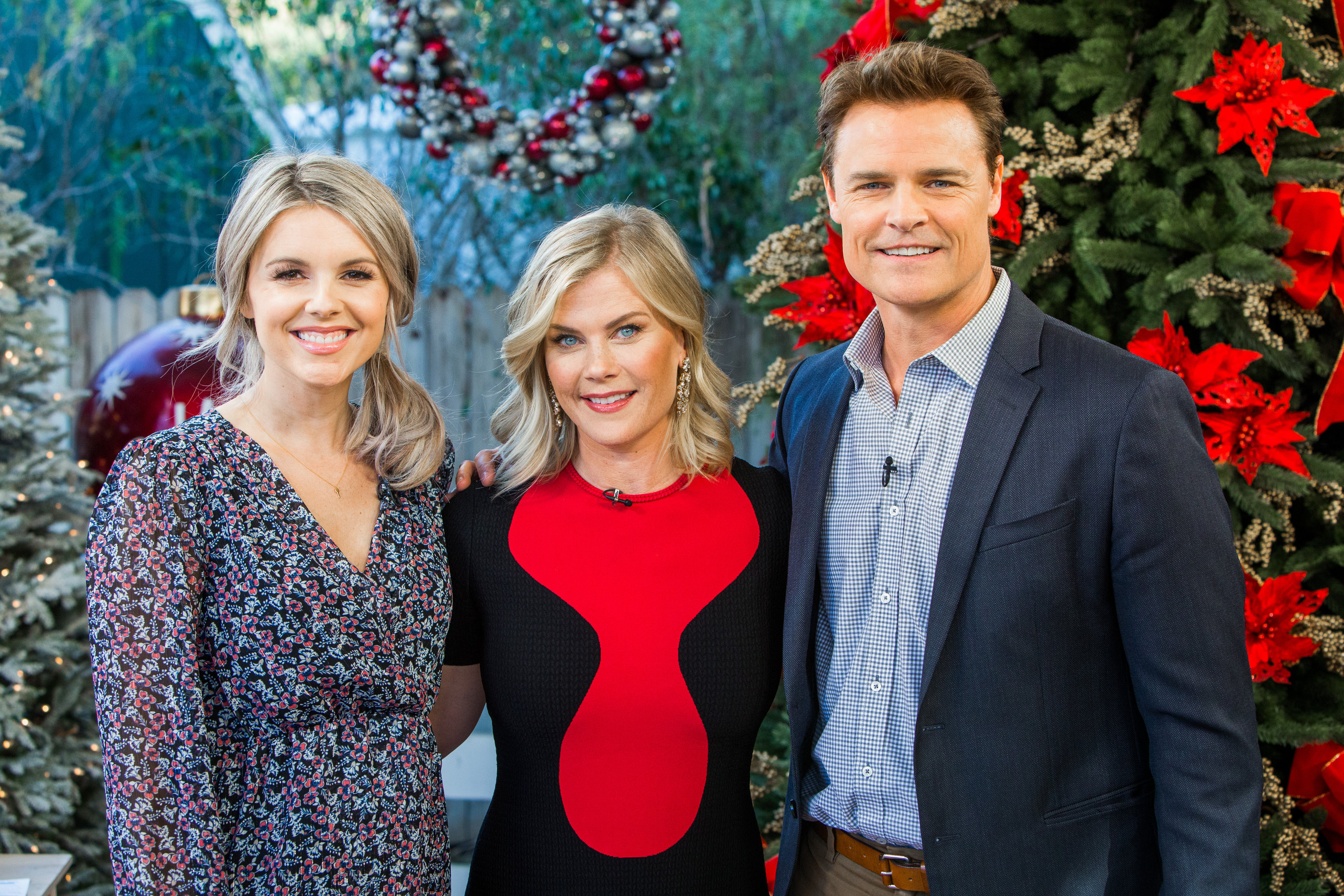 Alison Sweeney Family Pictures alison sweeney visits - home & family- video   hallmark channel