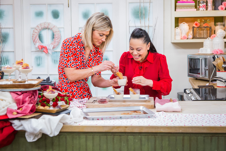 Roasted almond panna cotta home family video hallmark channel