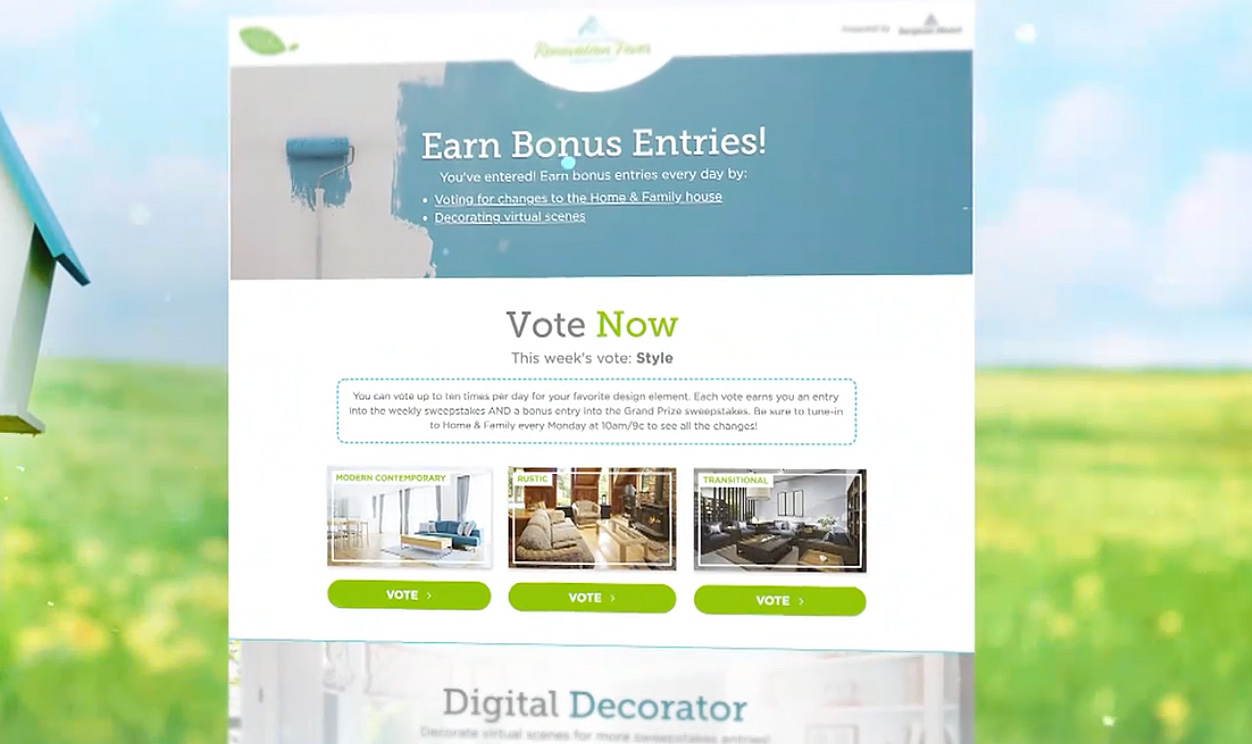 Preview Renovation Fever Sweepstakes Home Family Hallmark