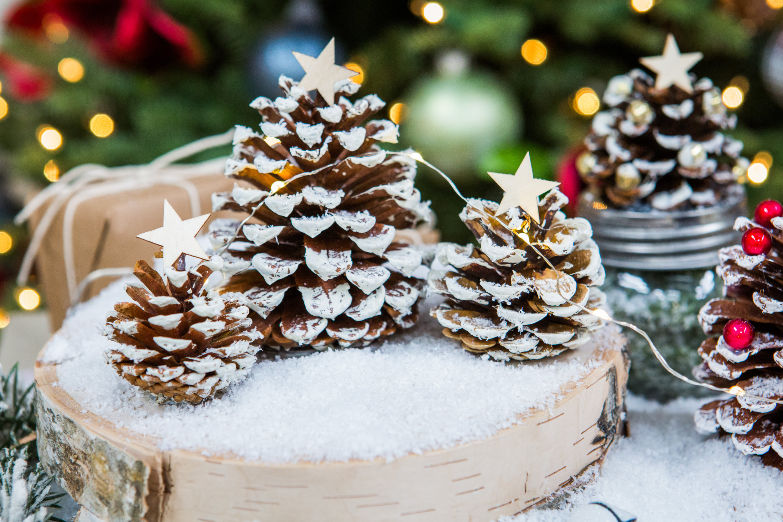 How To Diy Pine Cone Trees