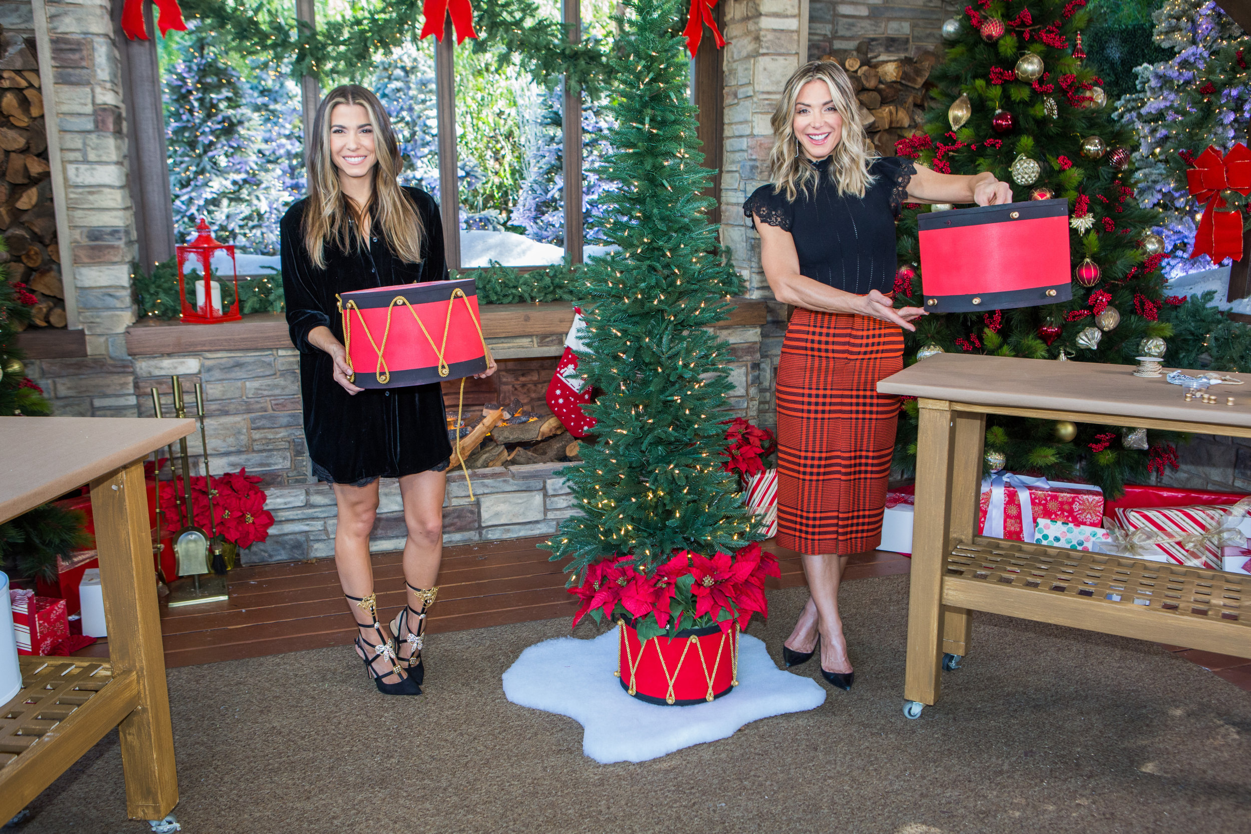 Diy Drum Christmas Tree Collar Home Family